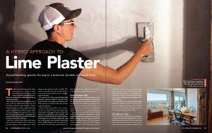 how to install lime plaster
