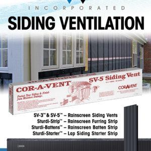 Cor-A-Vent Siding Ventilation