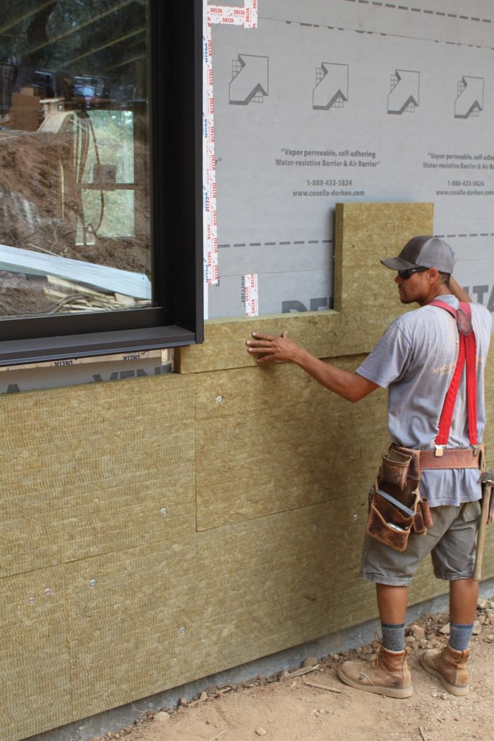 Installing Rockwool For Continuous Exterior Insulation