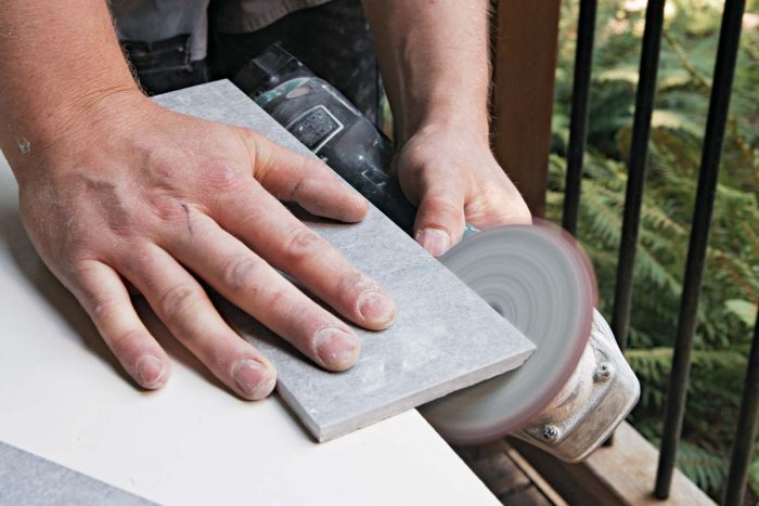 A 200-grit polishing pad offers more control as you sneak up on the perfect miter.