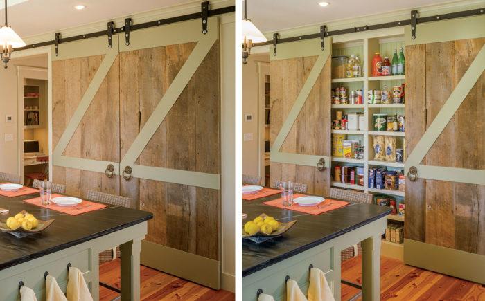 Spacious Pantry Behind Barn Doors - Fine Homebuilding