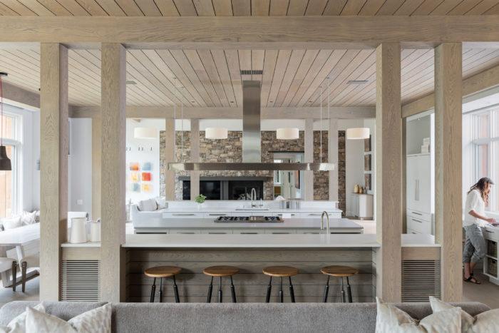 modern open space kitchen area design