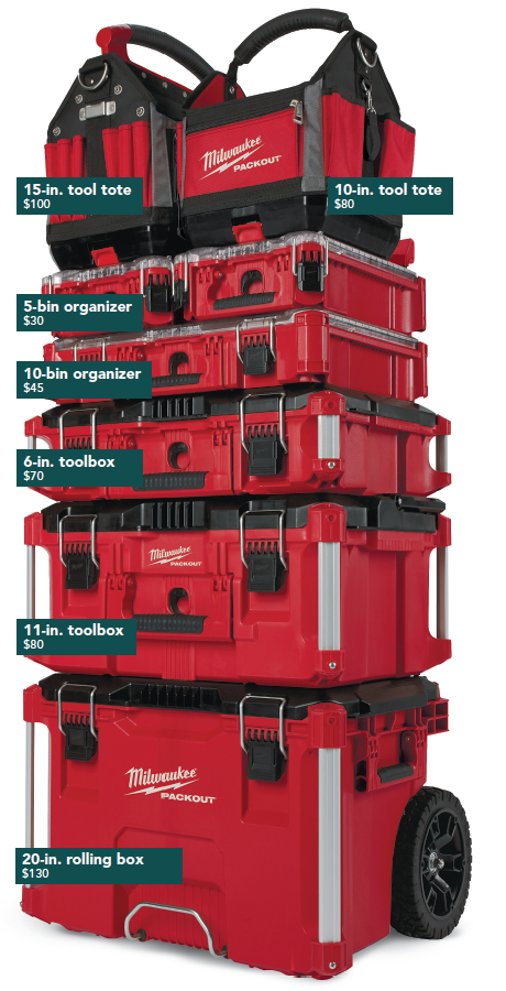 Stacking Portable Tool-Storage System
