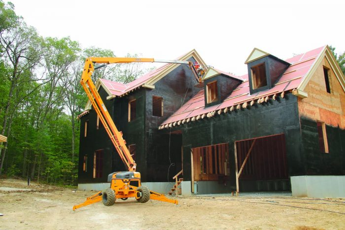 sheathing is accessed with a 6-ft. stepladder
