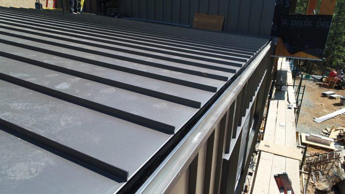 lower roof combines another Bridger Steel flashing