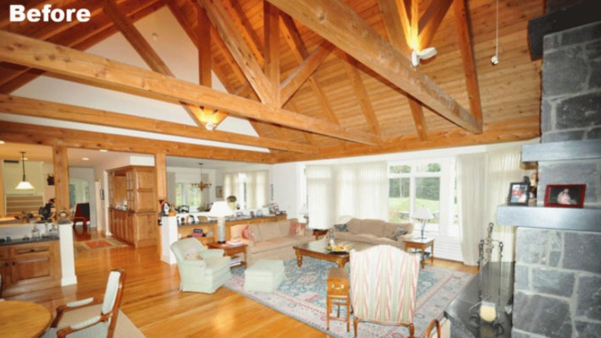 timber frame before