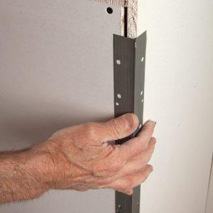 Light-gauge galvanized-metal corner bead