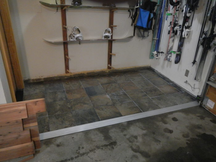 How To Tile A Portion Of A Concrete Floor And Create A Safe