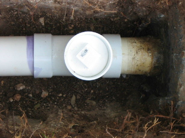 Crushed septic tank outlet pipe! - Fine Homebuilding