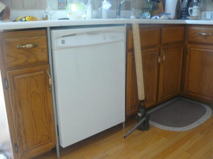 replacing dishwasher with a raised floor fine homebuilding. Black Bedroom Furniture Sets. Home Design Ideas
