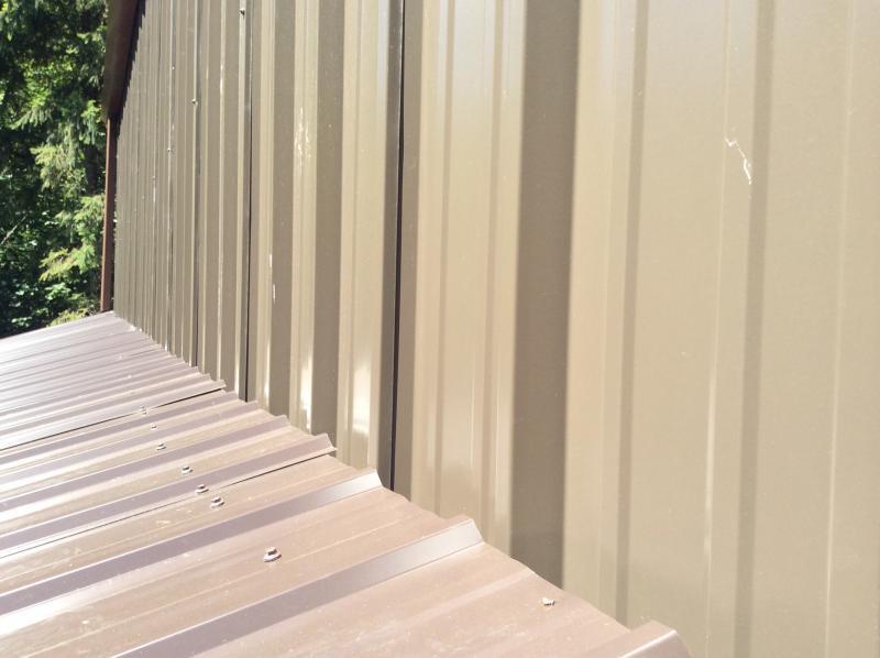 Metal Siding To Metal Roof Lean Too Fine Homebuilding