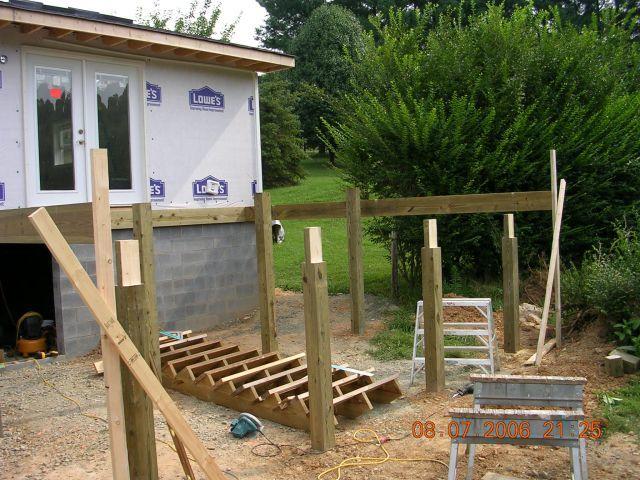 Deck - concrete piers or bury posts? - Fine Homebuilding