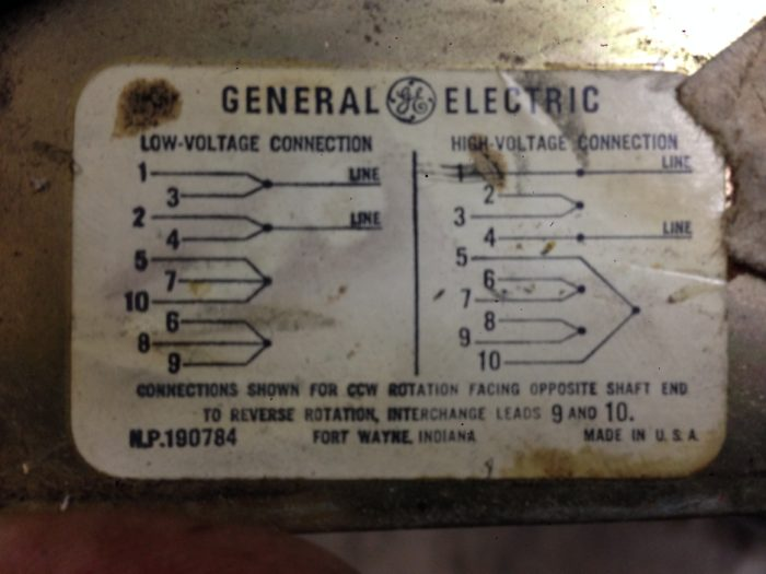 general electric motor wiring  fine homebuilding