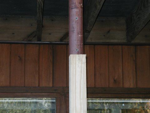 Attaching A Deck Ledger To Lally Columns Fine Homebuilding