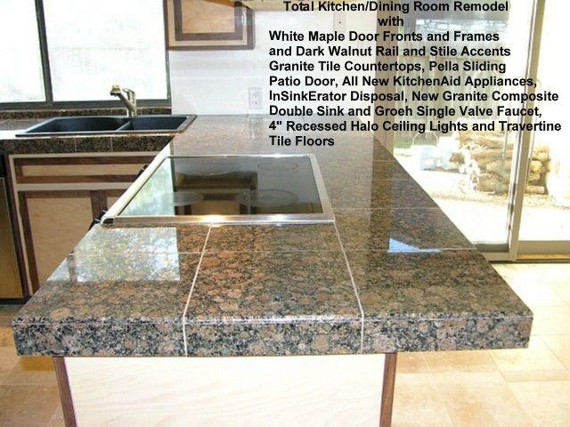 Butting granite tile on countertop - Fine Homebuilding