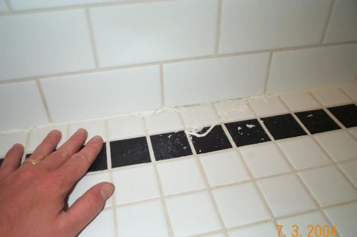 Caulking Failure In New Tiled Shower Sta Fine Homebuilding