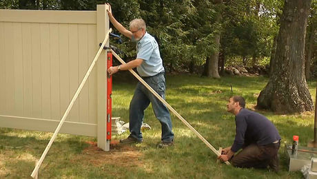 How to Install a Vinyl Privacy Fence: Set Posts and Panels