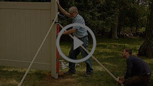 How To Install A Vinyl Privacy Fence Set Posts And Panels