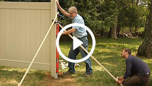 vinyl fence install 1