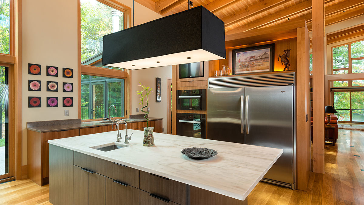 kitchen timber frame home