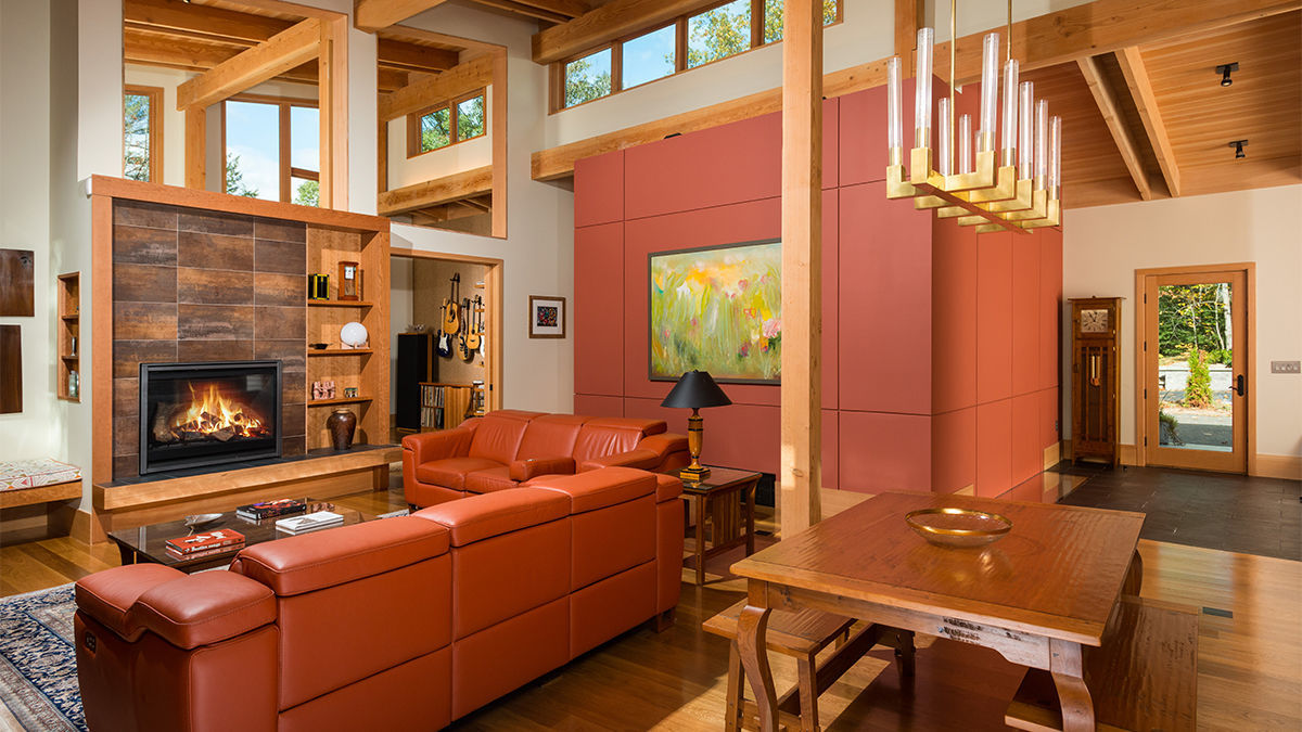 living space timber frame home