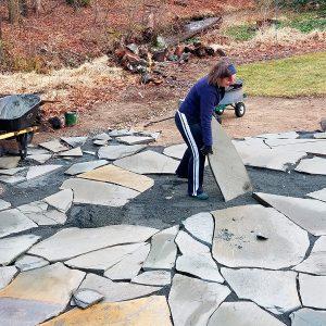 Patrick's Stone Patio rebuild