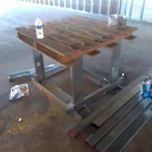 Steel stud jobsite table