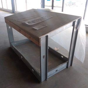 Steel stud jobsite desk
