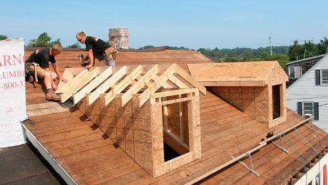 Men installing roof