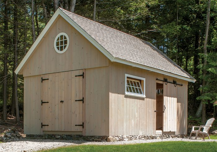 Build an Antique-Style Post-and-Beam Shed with Modern