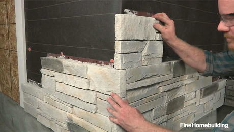 How To Install Stone Veneer Siding Panels Fine Homebuilding