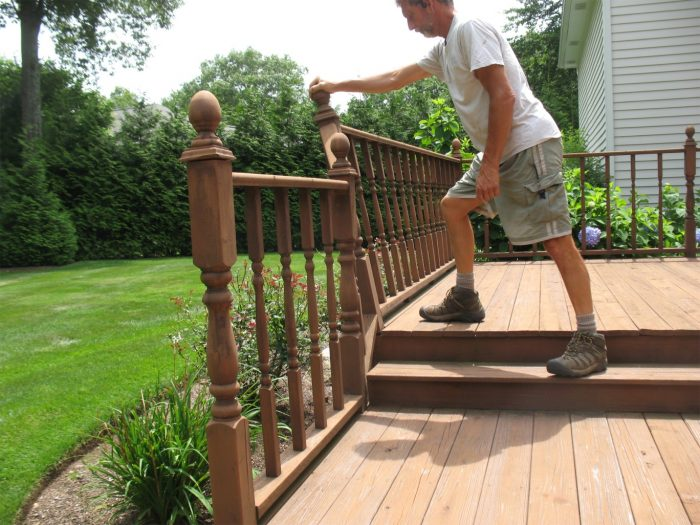 Reinforcing an Existing Deck Guardrail