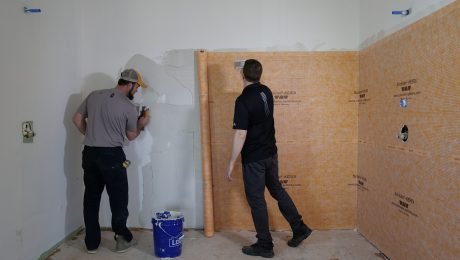 prepping tile for installation