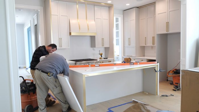 Cabinets And Countertops Are The Focal Points Of A New