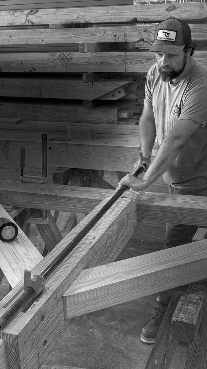 Bruno Sutter, professor of carpentry and timber raming