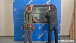 Install and flash a window over peel-and-stick housewrap