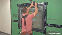 install and flash a window over Zip System sheathing
