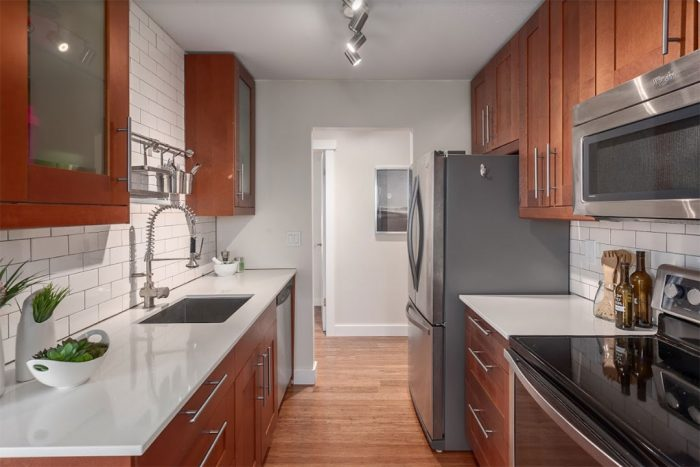 view of the kitchen remodel