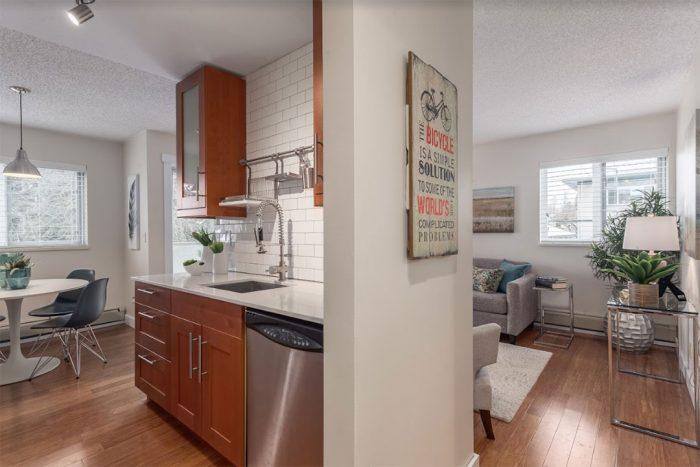 budget-smart kitchen remodel showing open plan