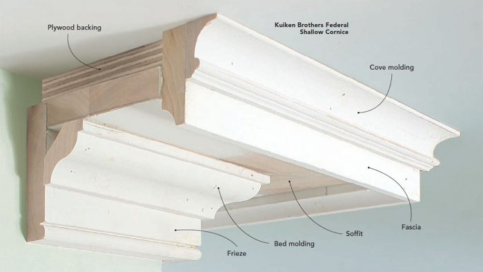 How to Install Built-up Crown Molding - Fine Homebuilding