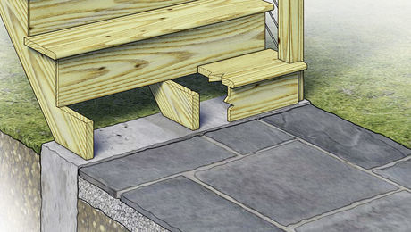 How To Build a Deck-Stair Landing
