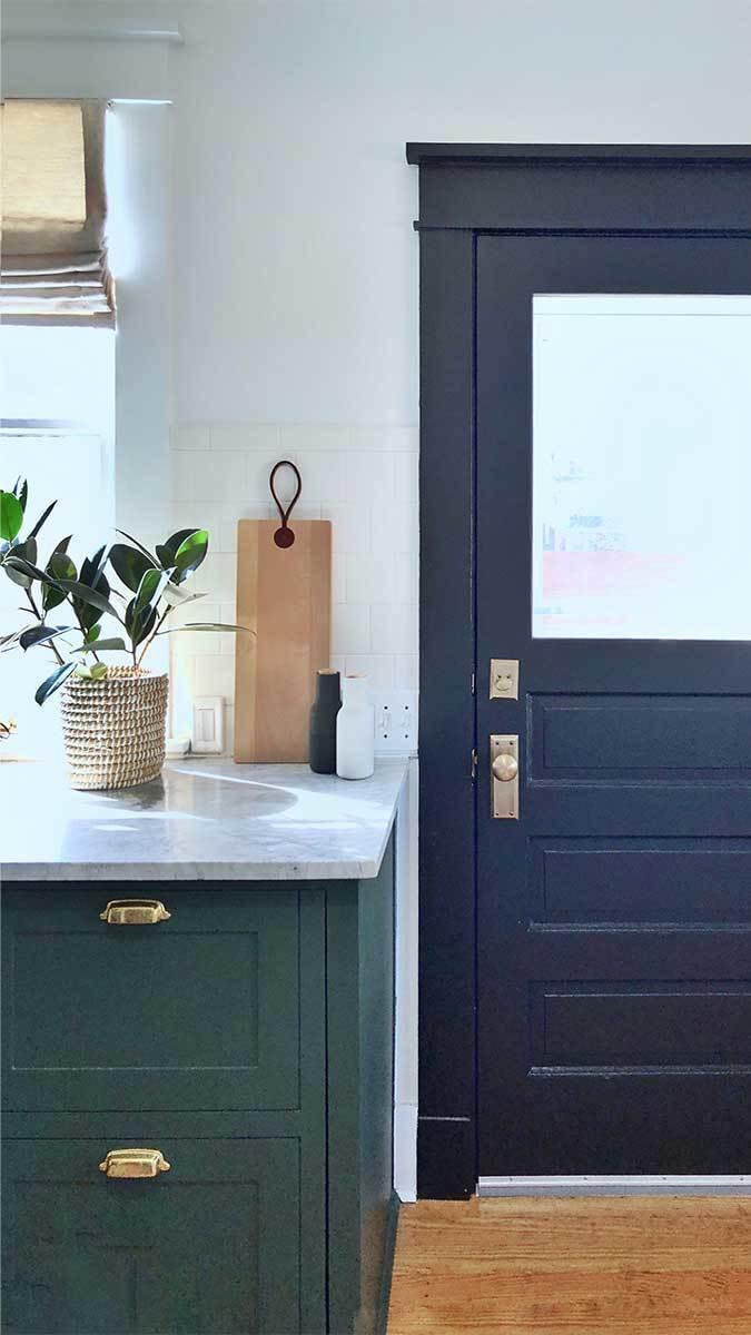kitchen door and counter