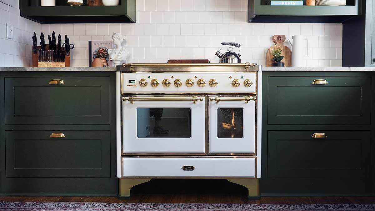 oven and countertops