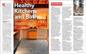 HEALTHY KITCHENS AND BATHS ISSUE SPREAD