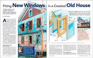 Fitting New Windows in a Crooked Old House