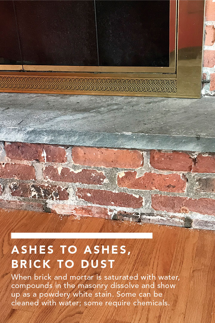 White Dust On Brick Fireplace Fine Homebuilding