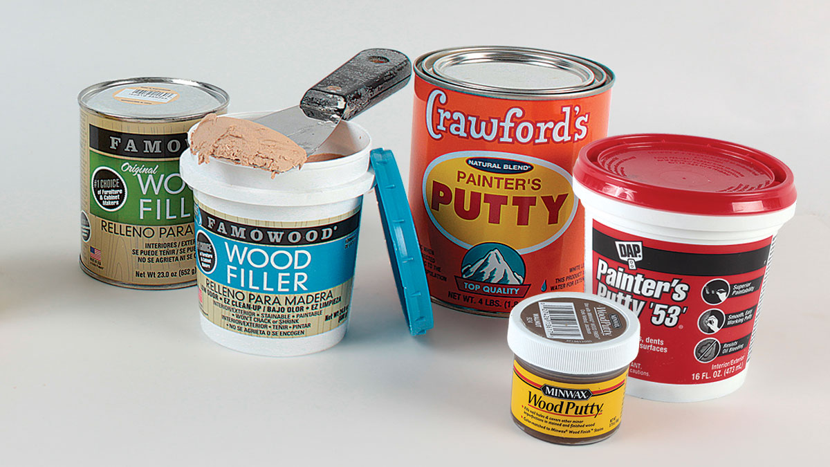 Different Types of Wood Filler and Putty