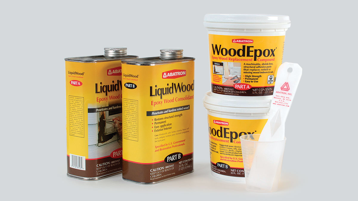 Abatron Liquid Wood and Wood Epox