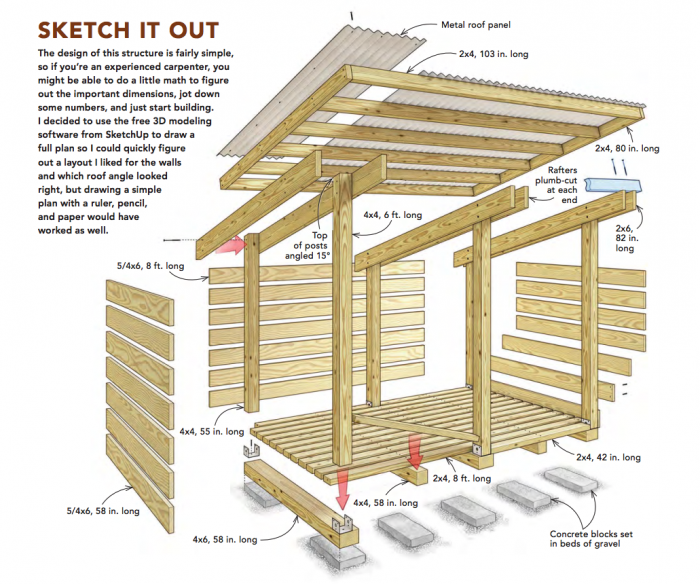 how to build a simple modern woodshed