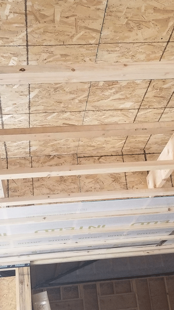 the ceiling with 2x4s